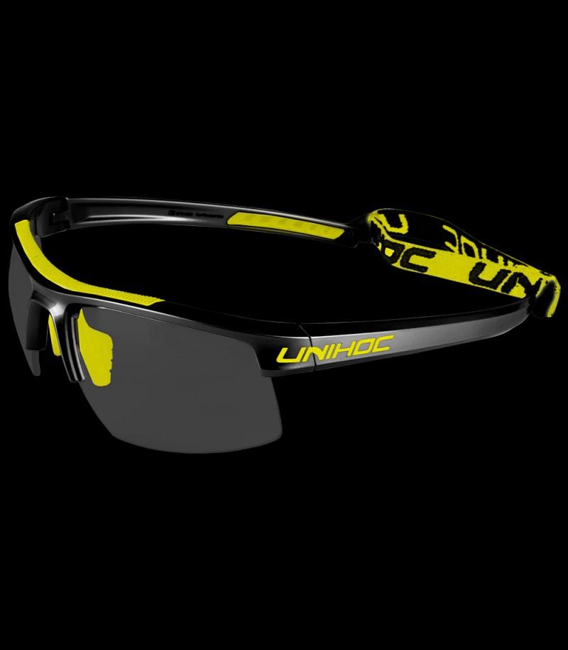 unihoc Sportbrille Energy Kids schwarz/gelb