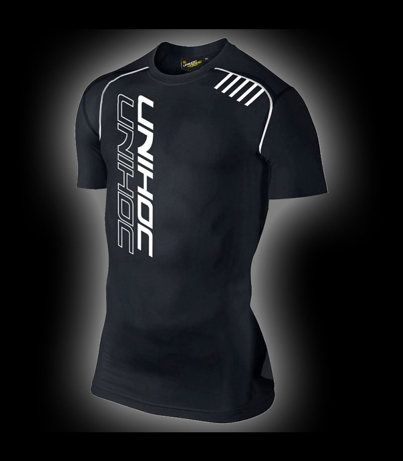 unihoc Compression T-Shirt schwarz
