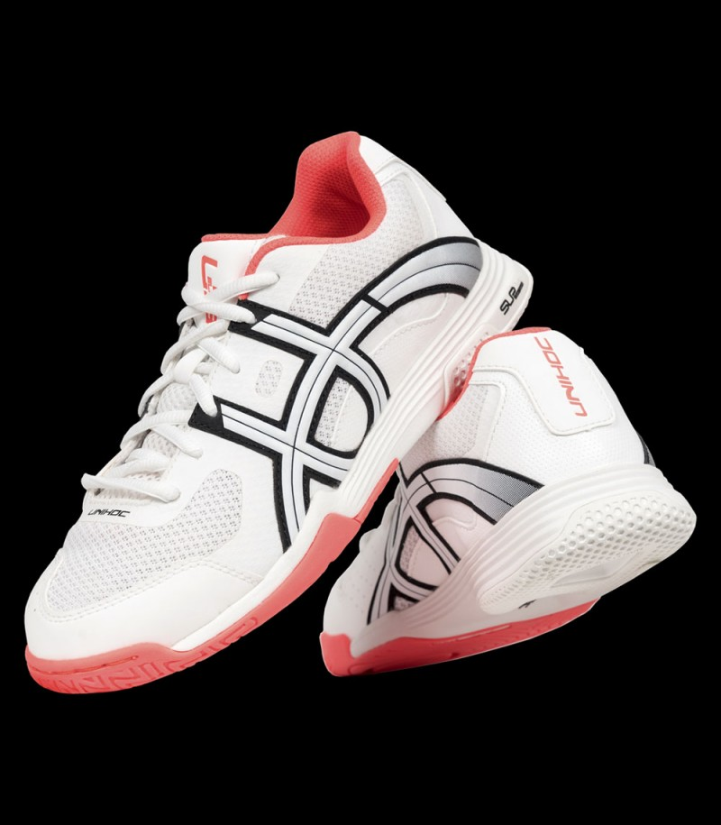 unihoc U3 Elite Lady white/coral red