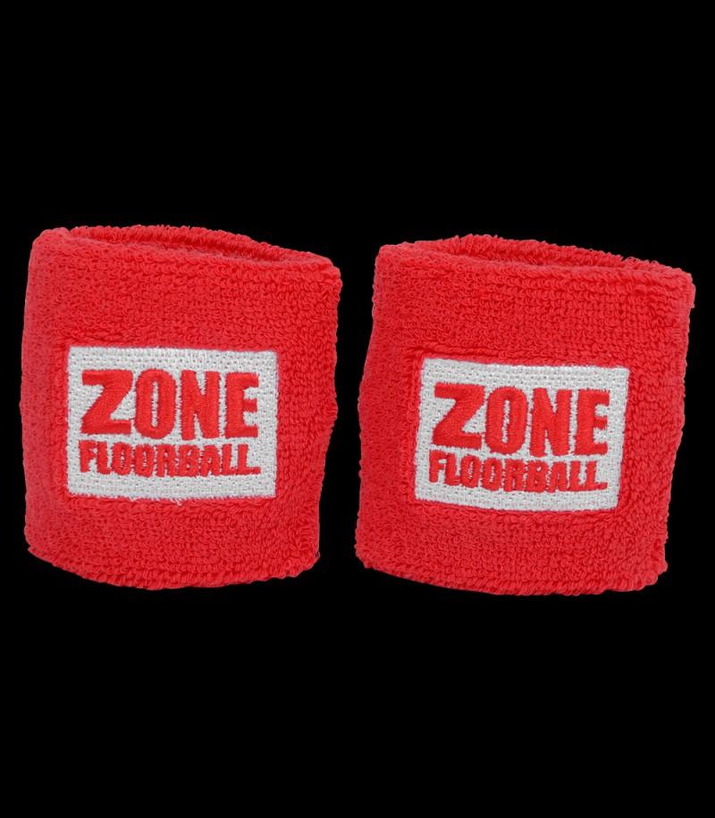 Zone Schweissband Retro rot (2-Pack)
