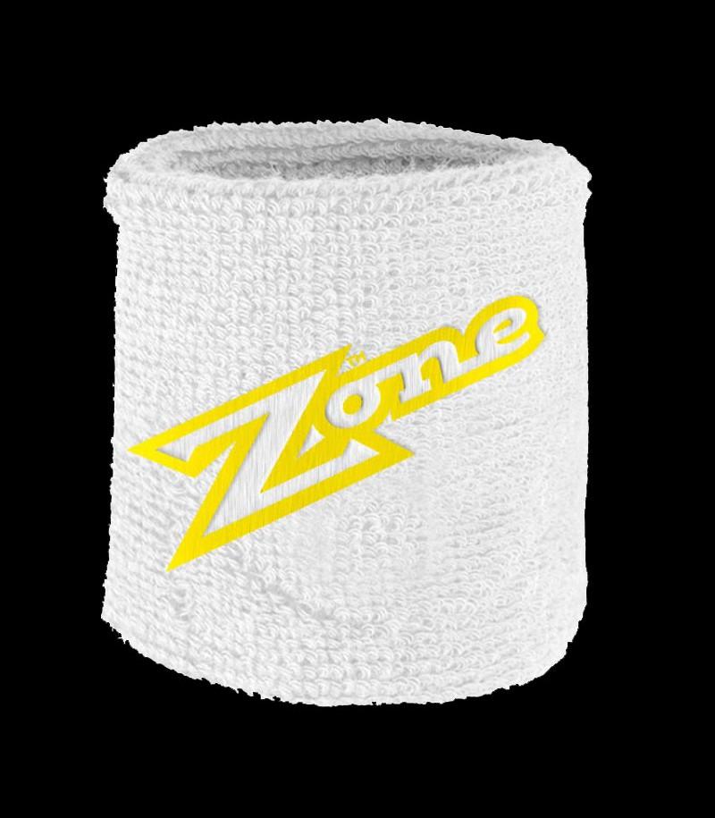 Zone Schweissband Old School weiss-lime (2-Pack)