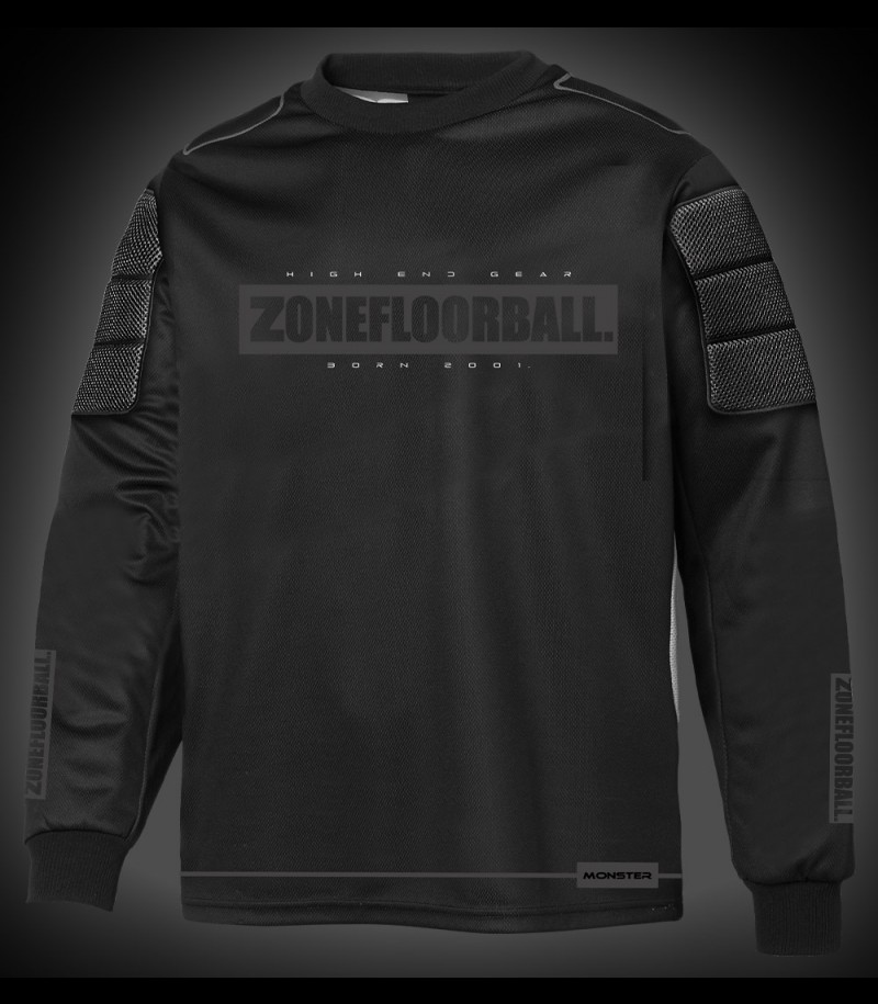 Zone Goaliepullover Monster Senior all black