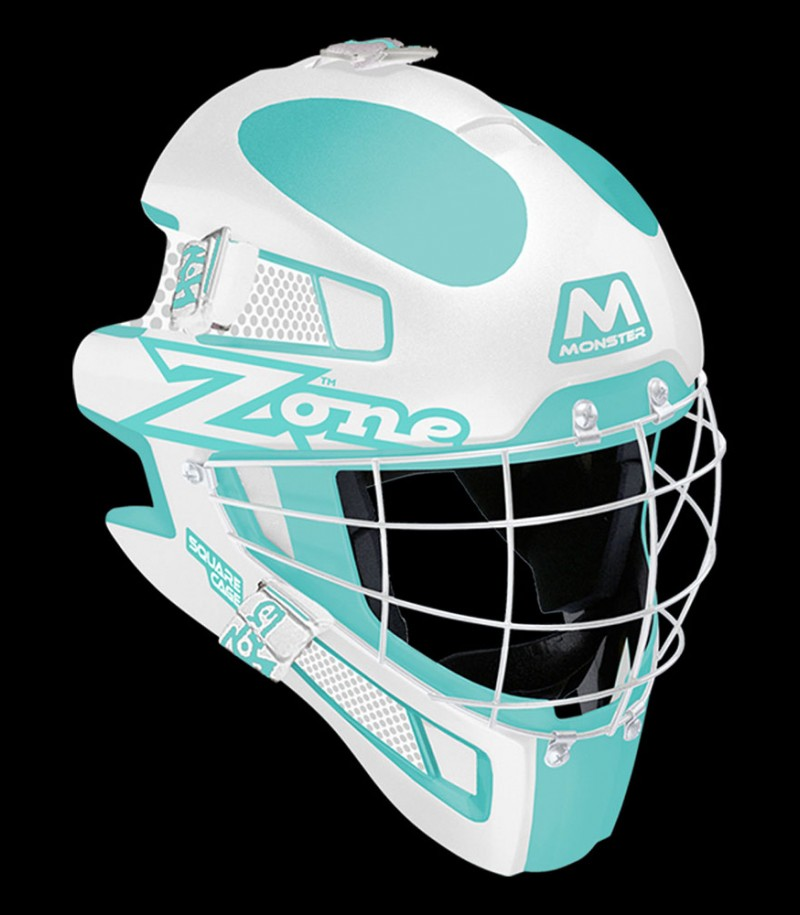 Zone Goaliemaske Monster Square Cage türkis