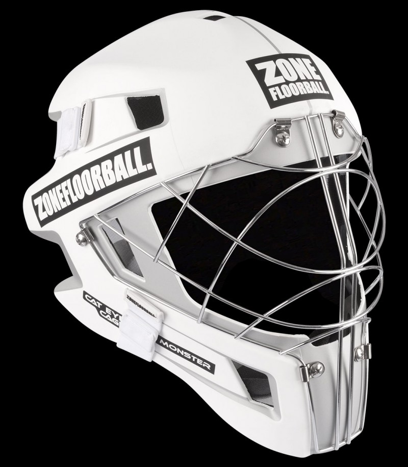 Zone Goaliemaske Monster Cat Eye Cage weiss/schwarz