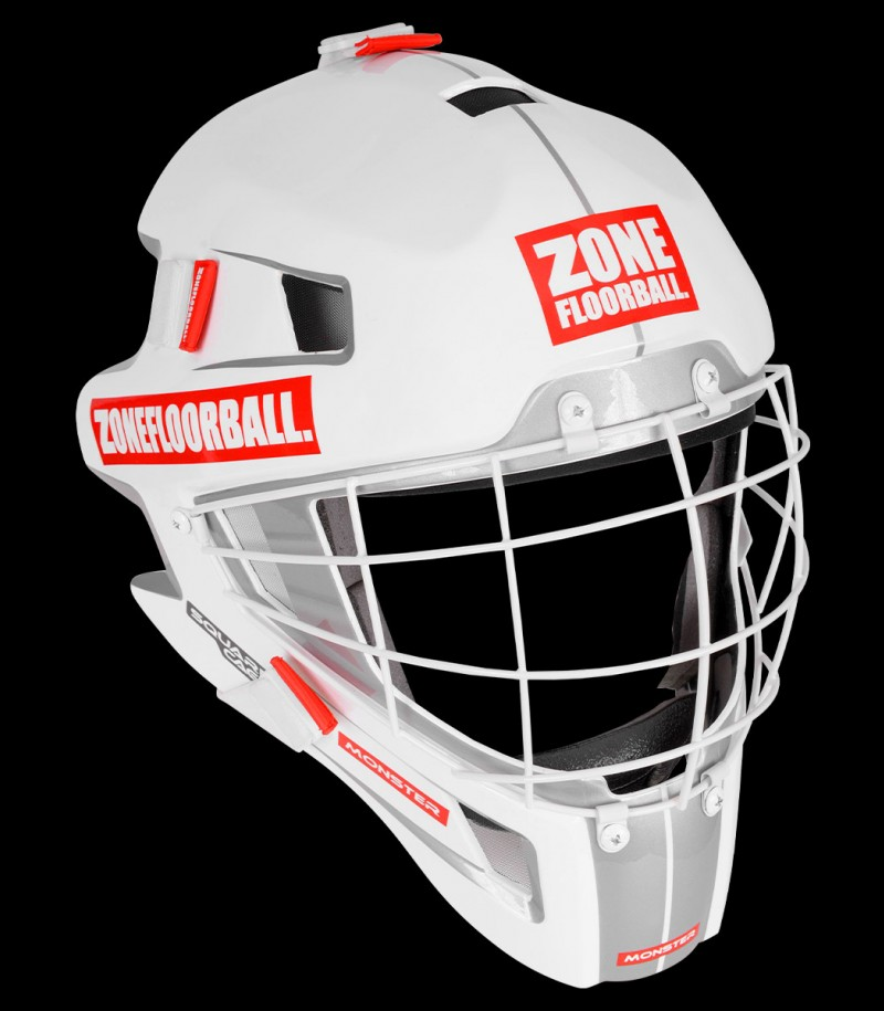 Zone Goaliemaske Monster Square Cage weiss/rot