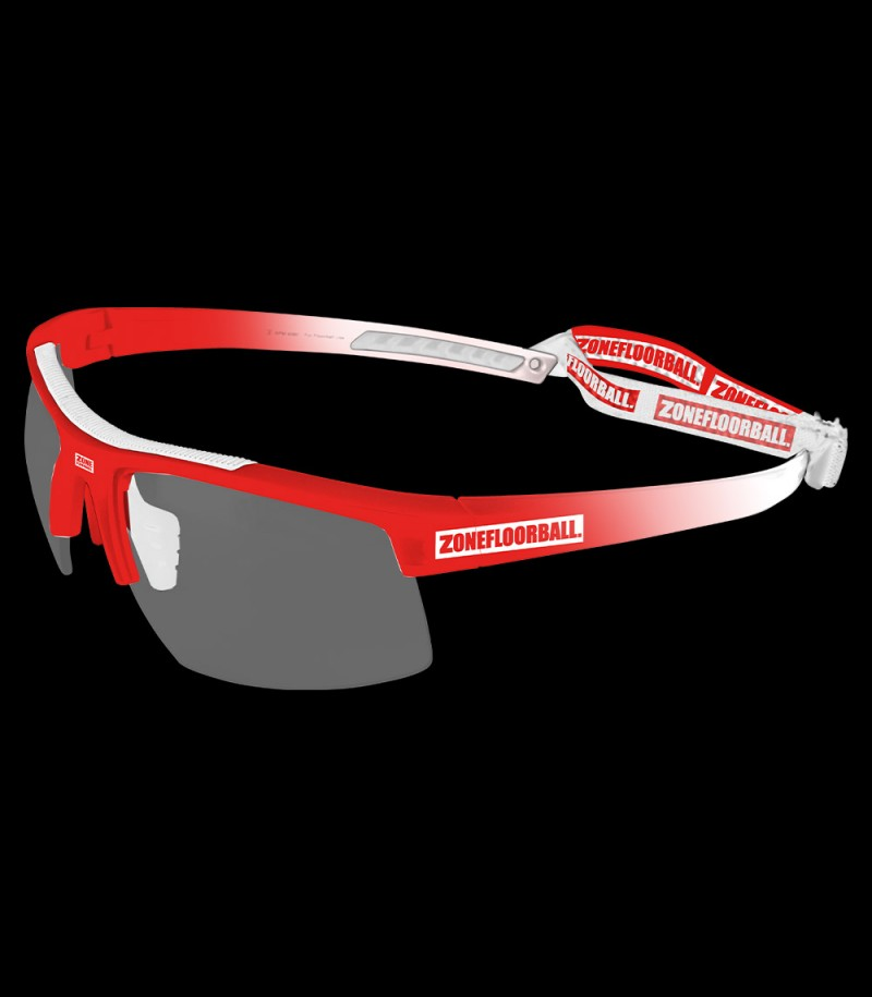 Zone Sportbrille Protector Kids weiss/rot