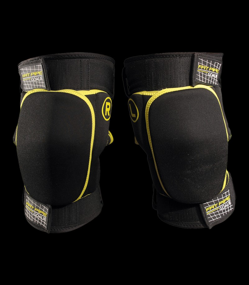 Fatpipe Goalie Knieschoner kurz black/yellow