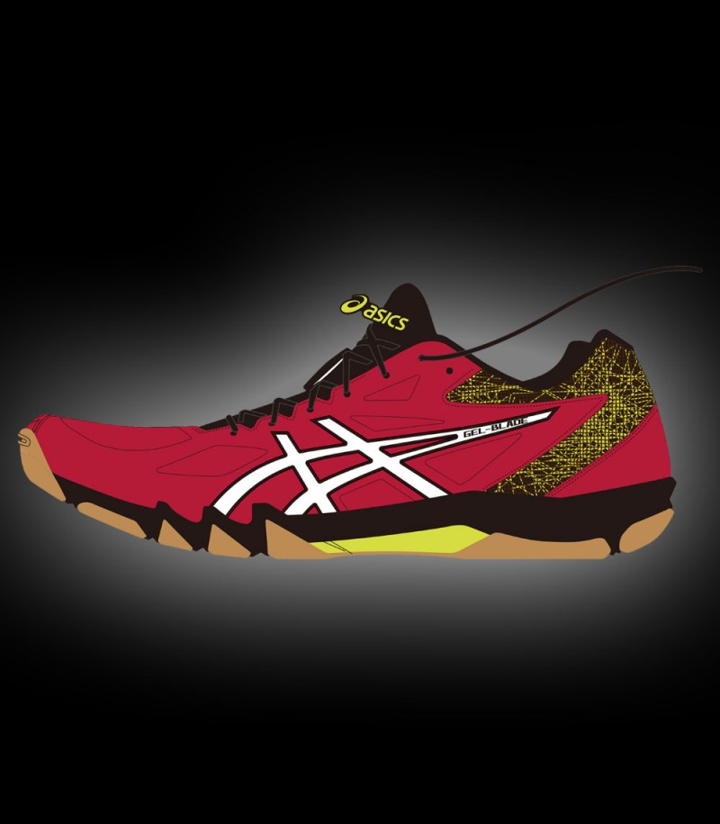 asics GEL-BLADE 7 speed red/white