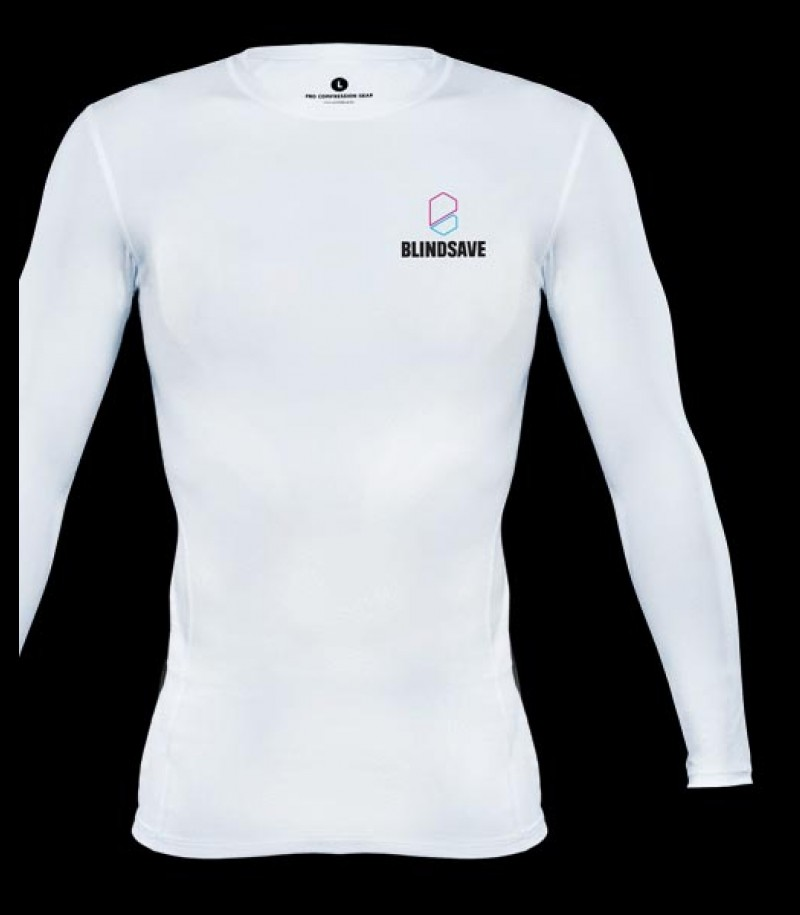 Blindsave Longsleeve Compression Shirt white