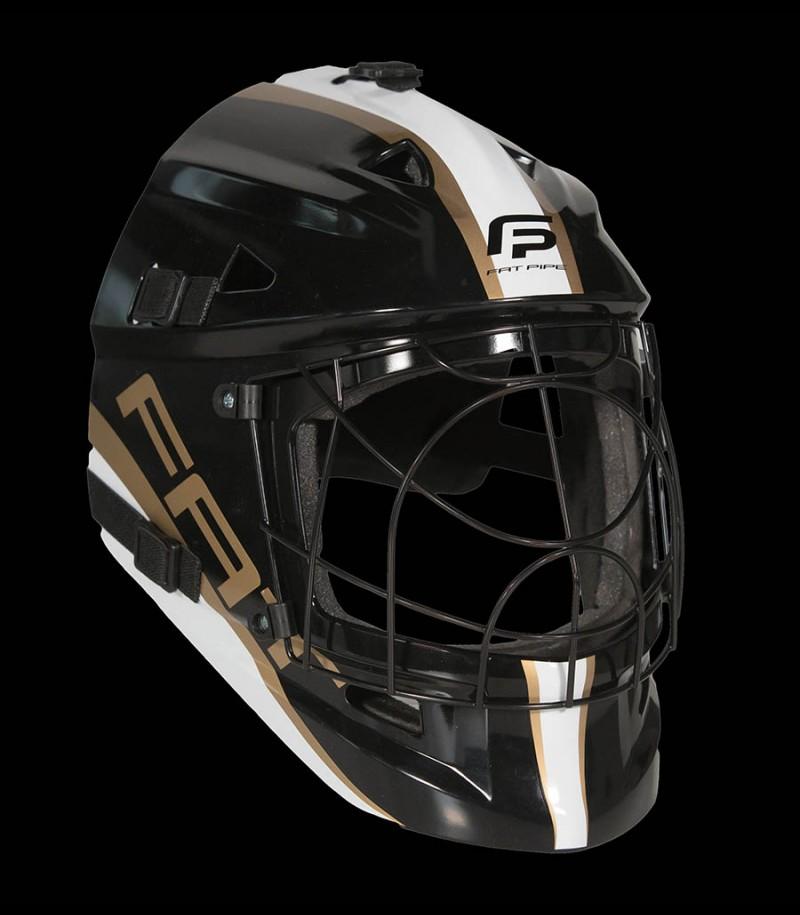 Fatpipe Goaliemaske Pro Junior black/gold