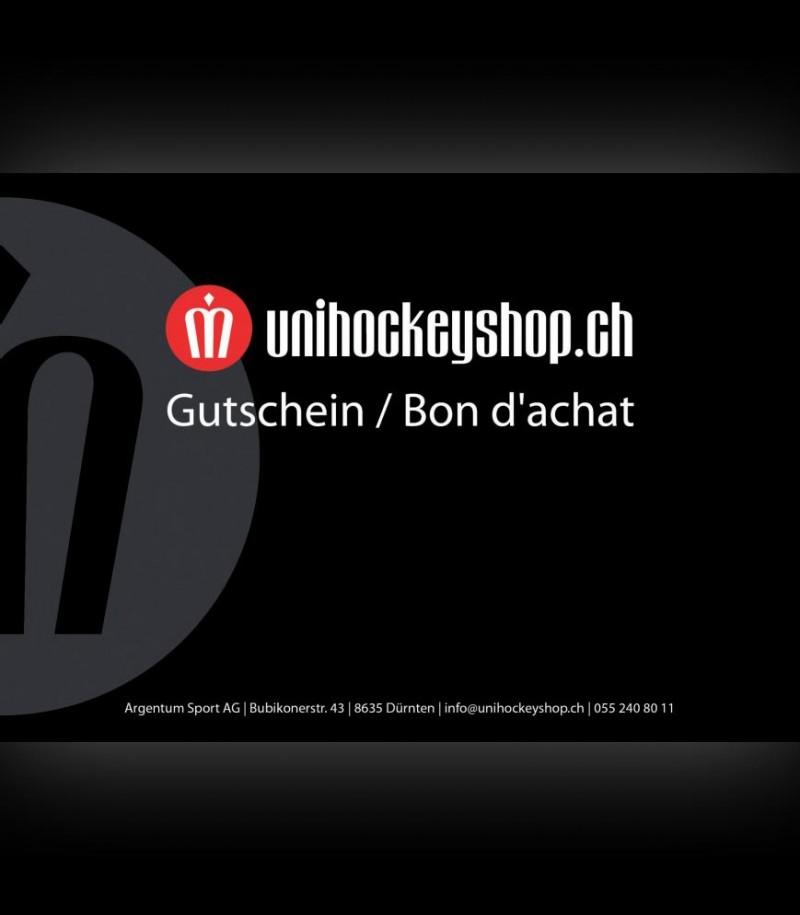 unihockeyshop.ch Gutschein 100 Franken