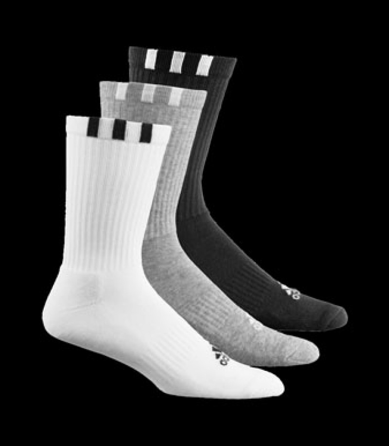 adicrew 3S Crew HC 3pp Sock black-grey-white (3-Pack)