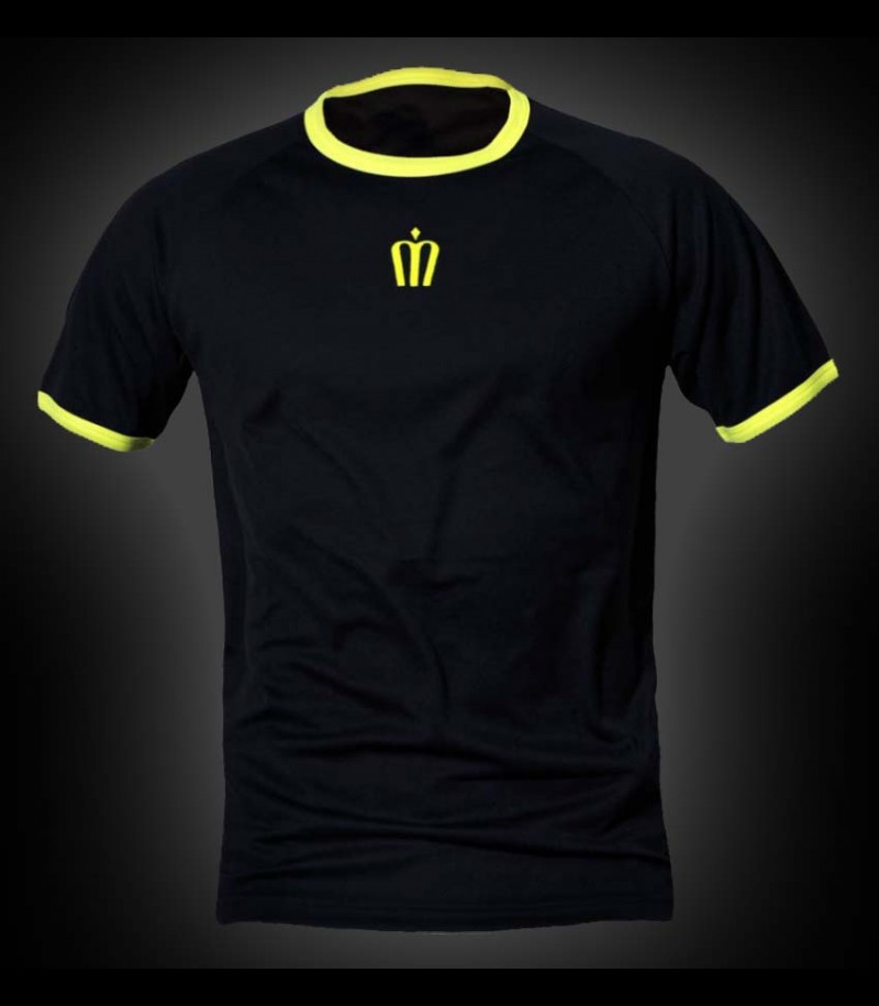 unihockeyshop.ch Training Tee Crown schwarz-gelb