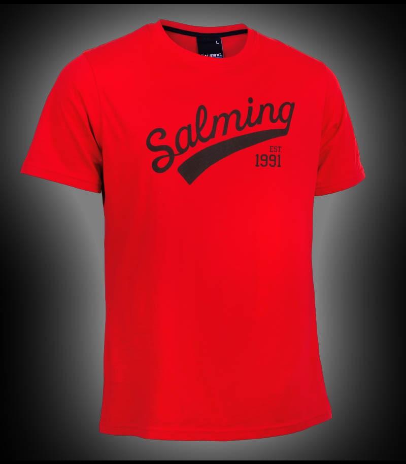 Salming Logo Tee red