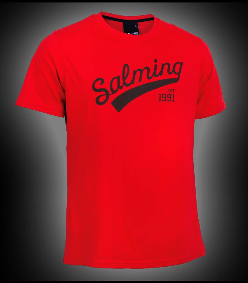 Salming Logo Tee Junior red