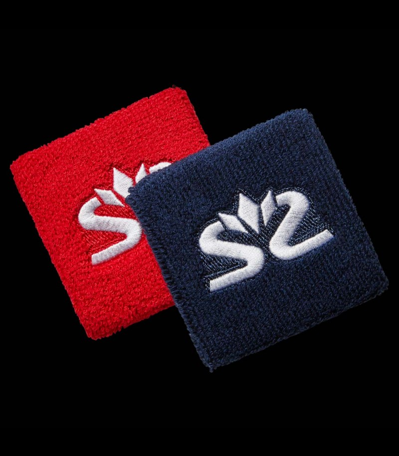 Salming Wristband Short diva red/dark blue (2-Pack)