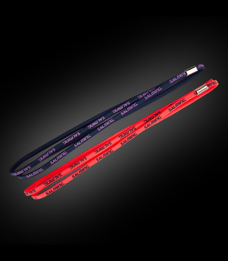 Salming Twin Hairband coral/navy (2-Pack)