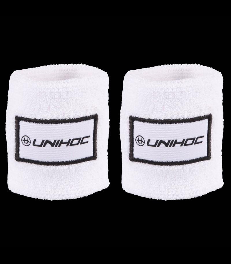 unihoc Schweissband Terry white (2-Pack)