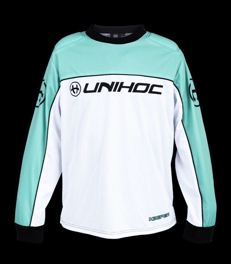unihoc Goalieshirt Keeper Junior türkis/weiss