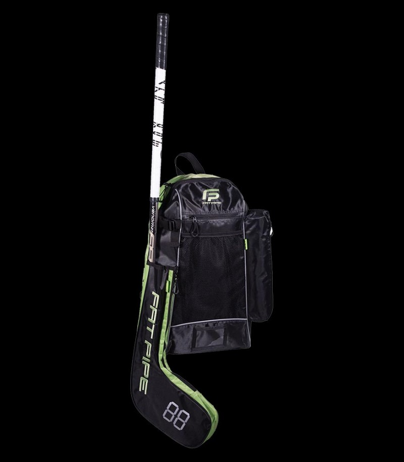 Fatpipe Stick Backpack black/lime