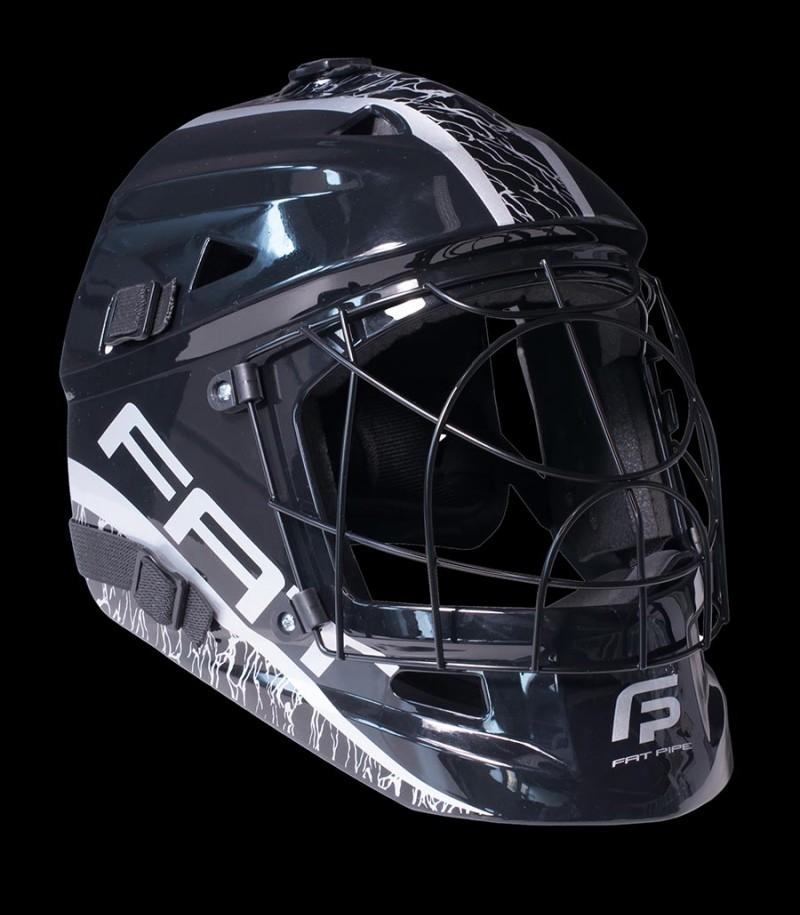 Fatpipe Goaliemaske Pro Junior black/silver