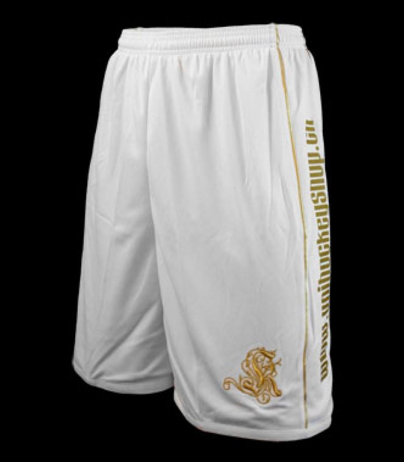 Louis XIV Bermudas blanc d'or