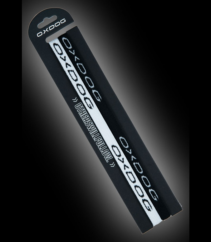OXDOG Hairband Slim white/black (2-Pack)
