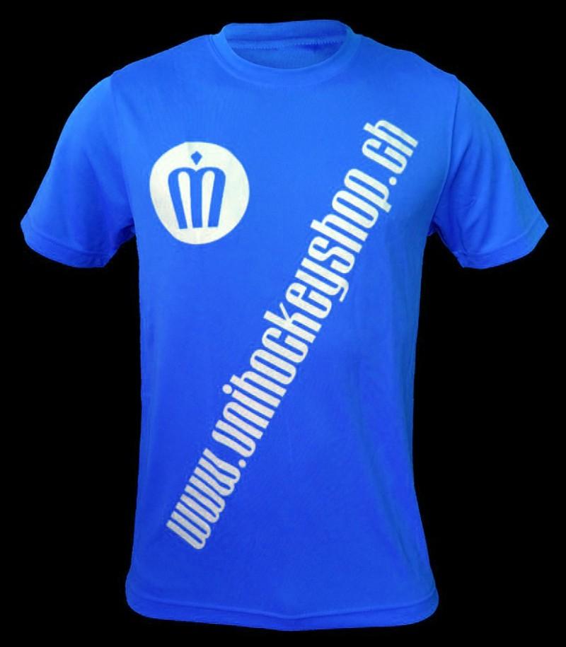 unihockeyshop.ch T-Shirt Badge Promo blau