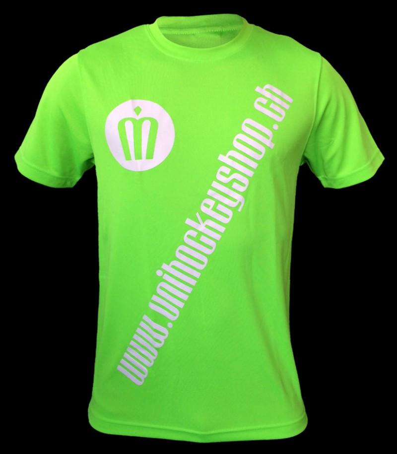unihockeyshop.ch T-Shirt Badge Promo neongrün