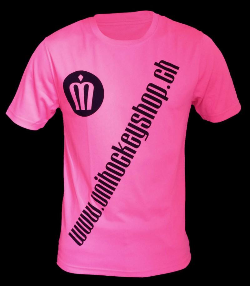 unihockeyshop.ch T-Shirt Badge Promo pink